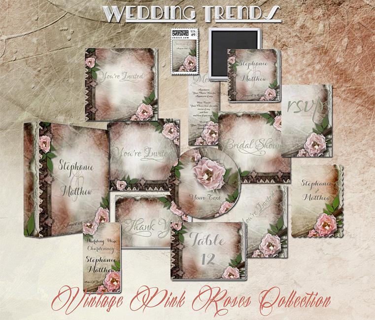 Romantic Rustic Wedding Invitations