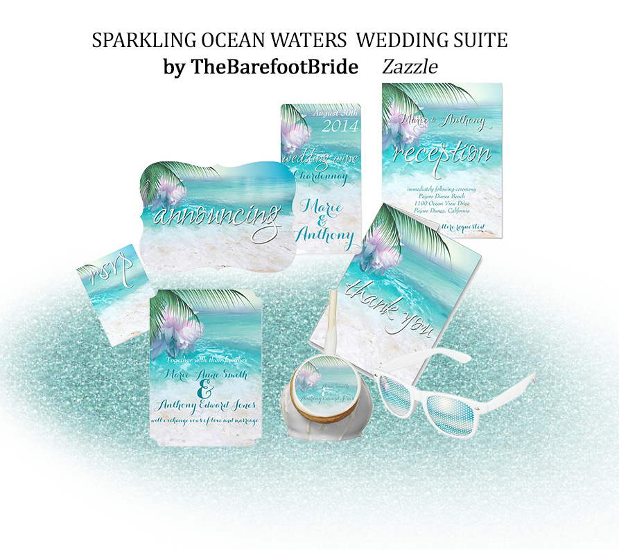 Sparkling Ocean Waters  Wedding Suite Beach Wedding